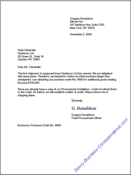Format of Business Letters