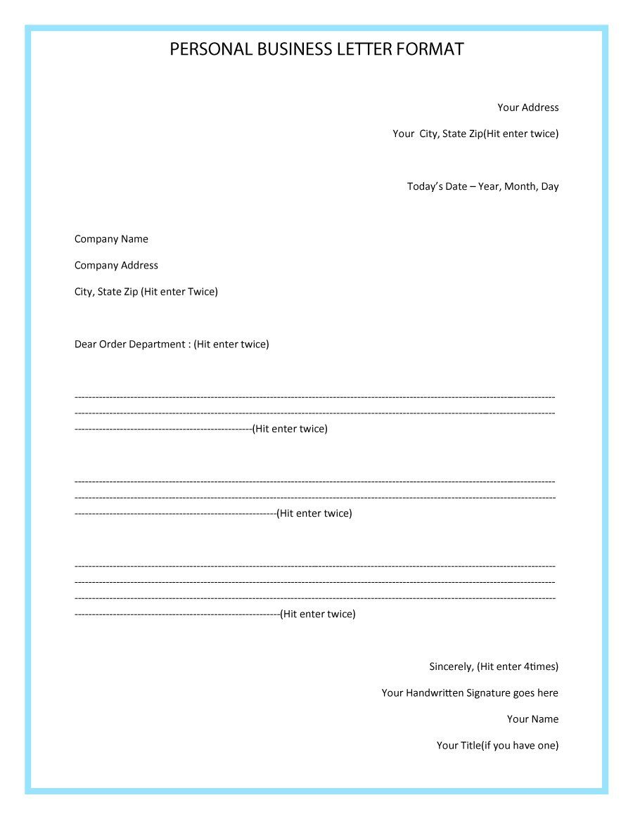 latest business letter format   Yelom.myphonecompany.co