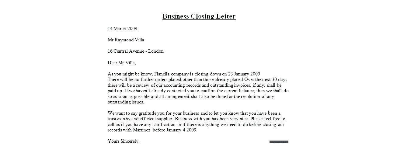 Formal French Business Letter Closing Valid Business Letter