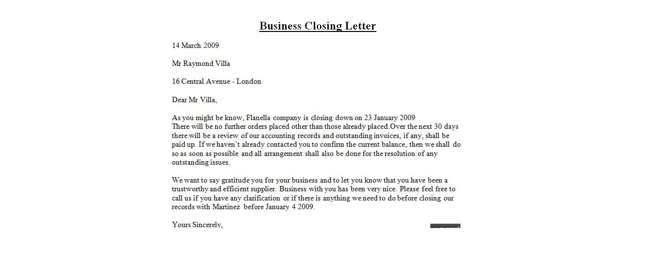 Business Letter Closing Best Business Letter Closings Business