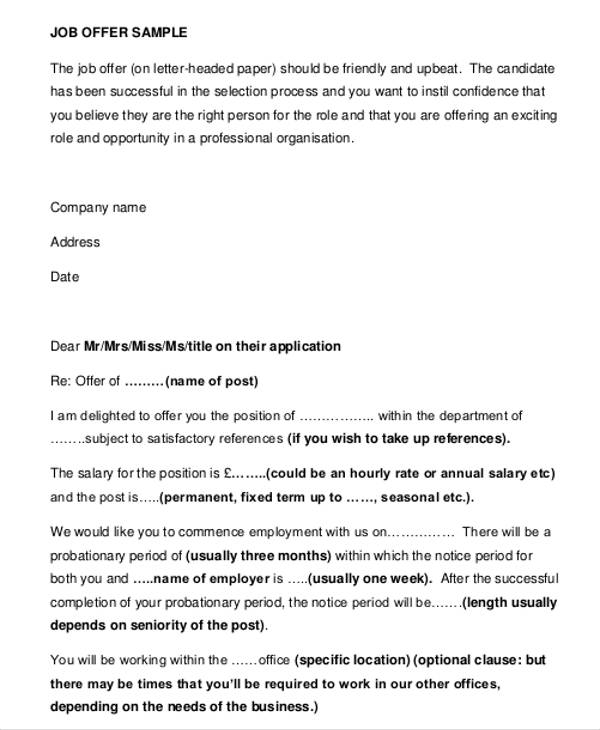 letter template business uk business offer letter template 7 free
