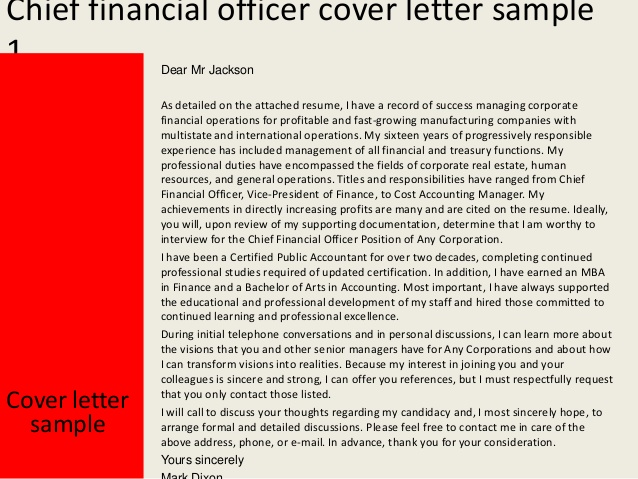 cfo cover letter sample   Yelom.myphonecompany.co