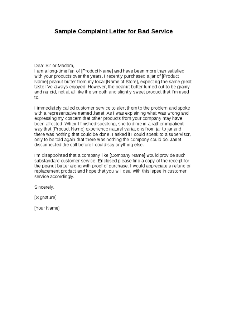 complaints letter for poor service   Carnaval.jmsmusic.co