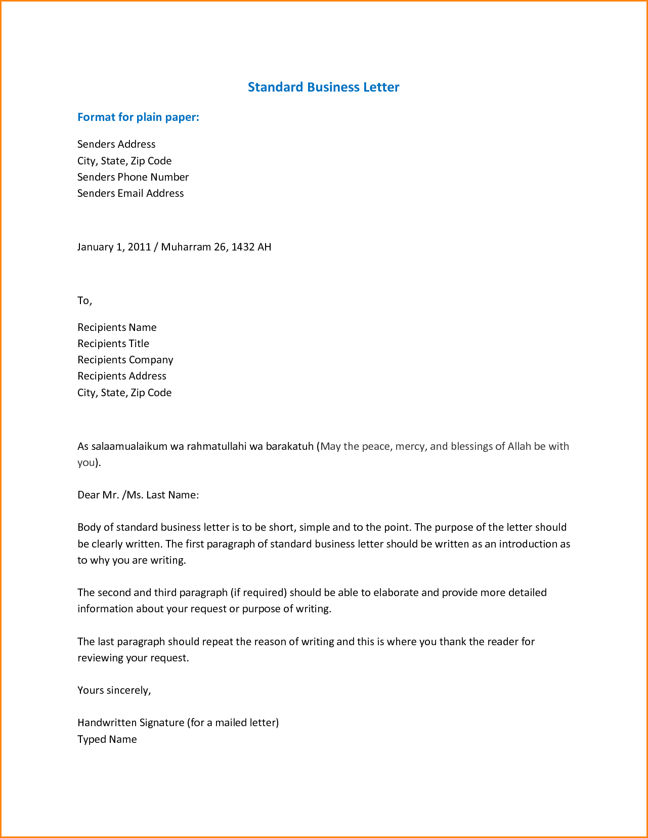 Email Business Letter Format Image Collections Via Mail