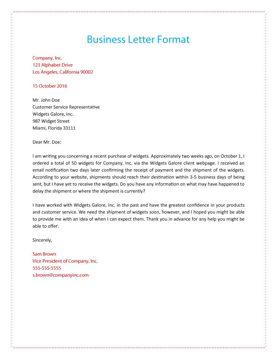 buisness letter format example   Anta.expocoaching.co