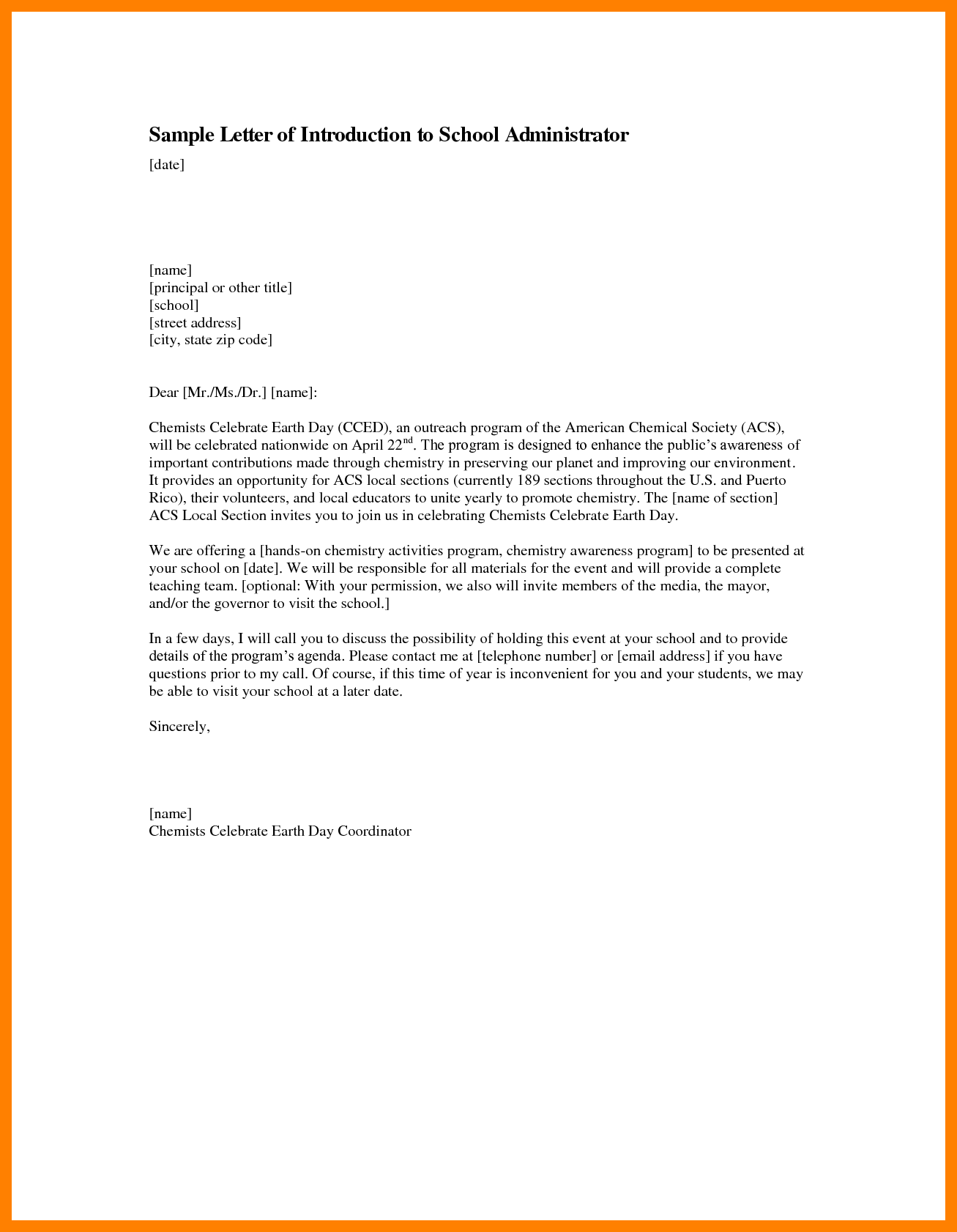 Letter Of Introduction for Resume Sample   Lezincdc.com