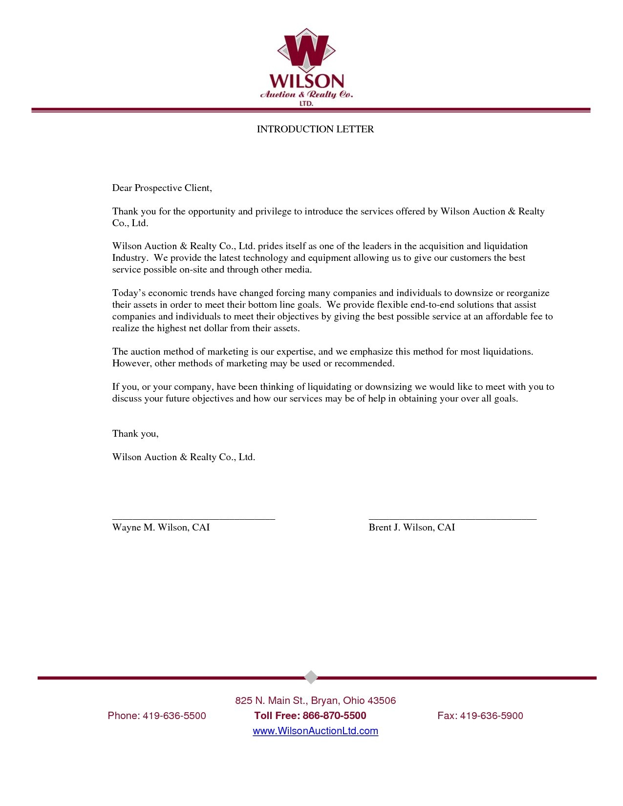 Template Letter Introduction Business Refrence Introduction Letter