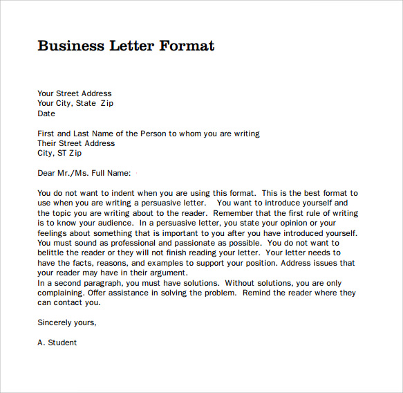 professional business letter format   Anta.expocoaching.co