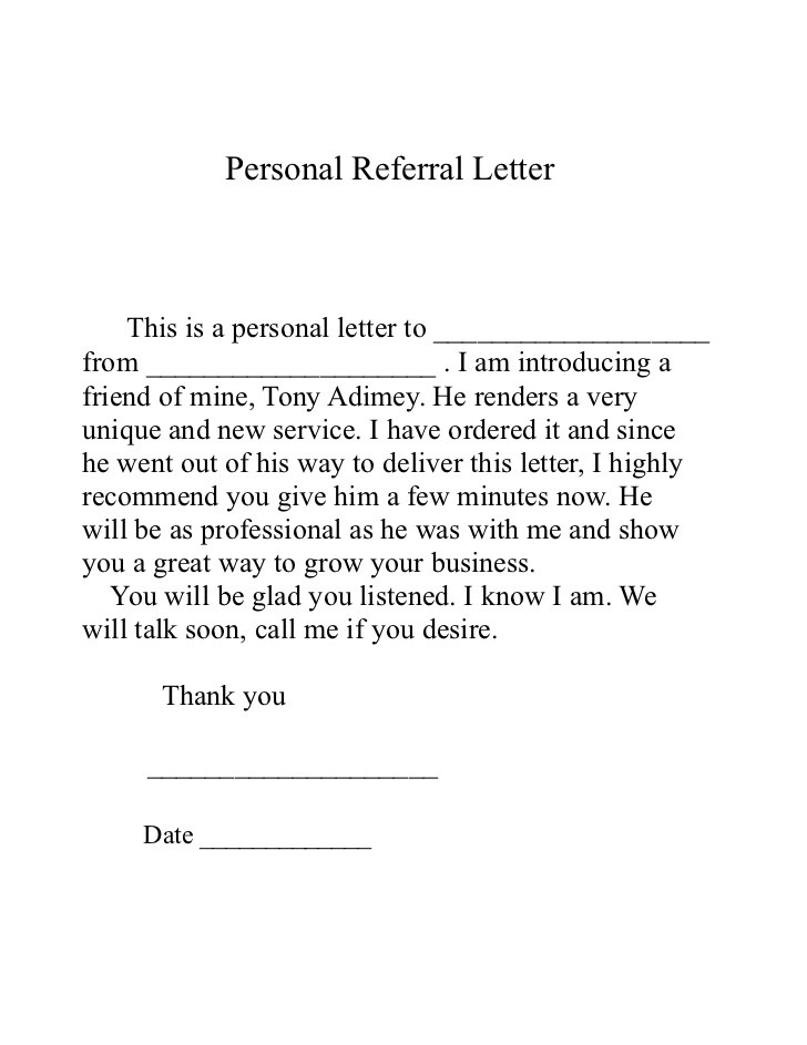Business Referral Thank You Letter Images   Letter Format Formal