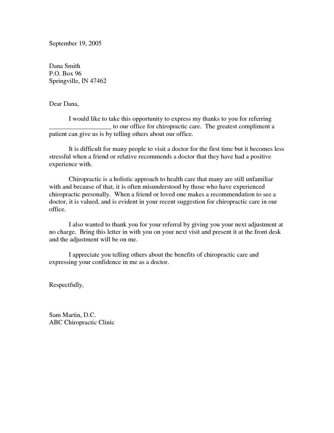Awesome Collection Of Business Thank You Letter Sample that