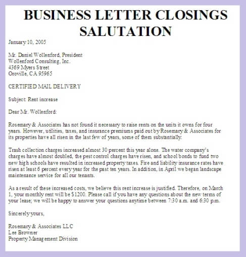 Business Letter Salutation Custom College Papers Business Letter