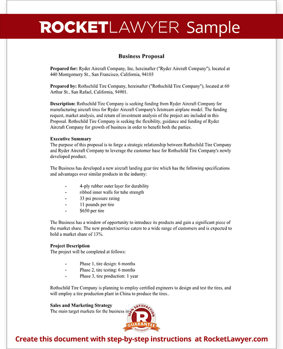 business proposal template sample   Yelom.myphonecompany.co