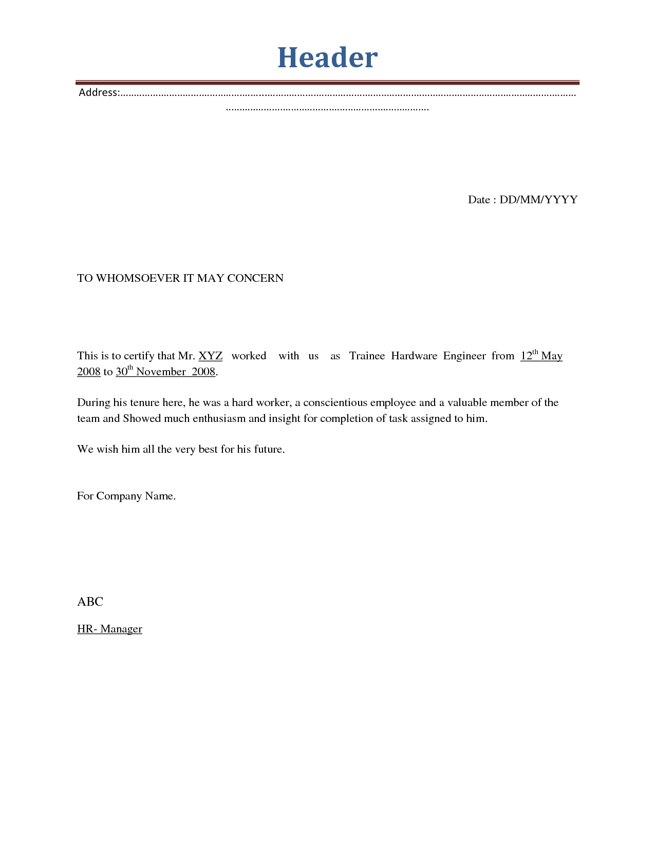 sample employee termination letter   Yelom.myphonecompany.co