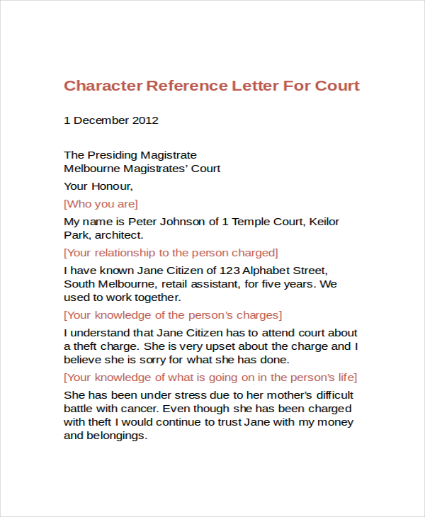 Sample Letter To The Court from appareldream.com