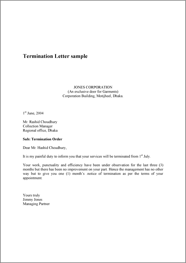 sample of termination letters   Ukran.soochi.co