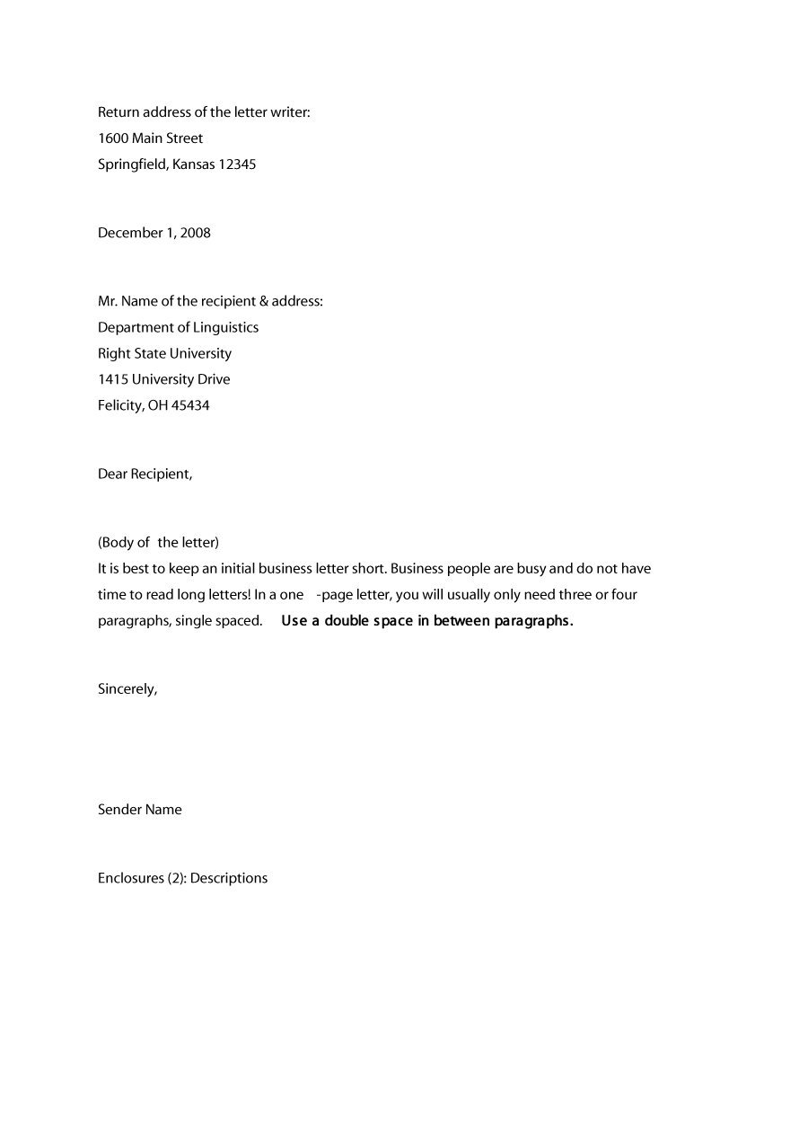 sample business letter formats   Ukran.soochi.co