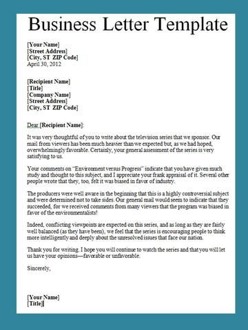 writing a letter to a business template make a business letter