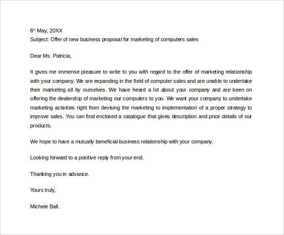 Sample Business Proposal Letter to Download | Business | Pinterest