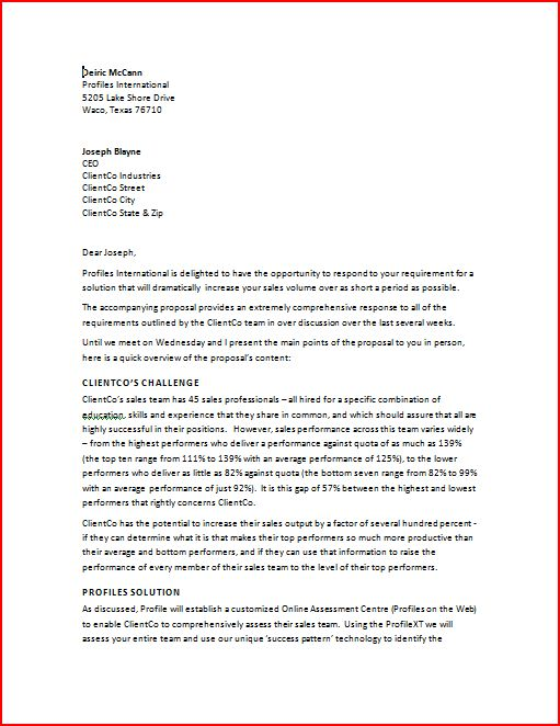 how to write a business proposal letter sample   Yelom