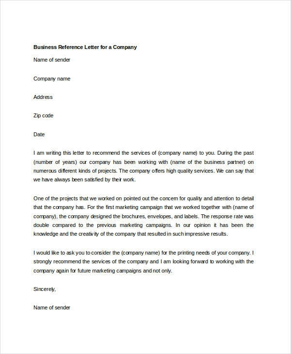 business reference letter sample free   Ukran.soochi.co