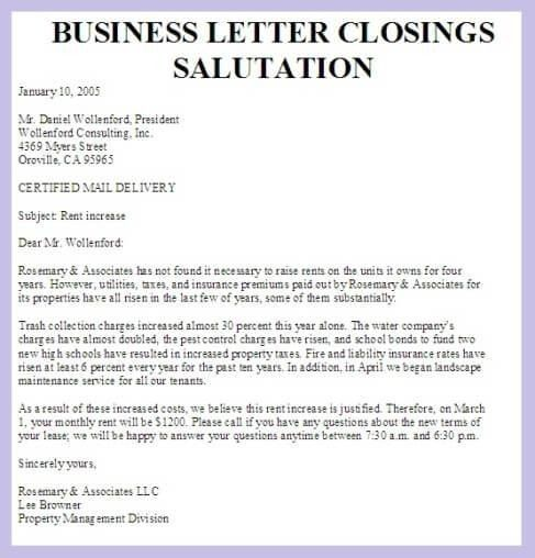 Business Letter Salutations And Closings   icebergcoworking