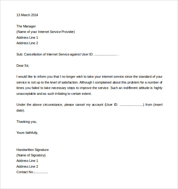 Timeshare Cancellation Letter Template from appareldream.com