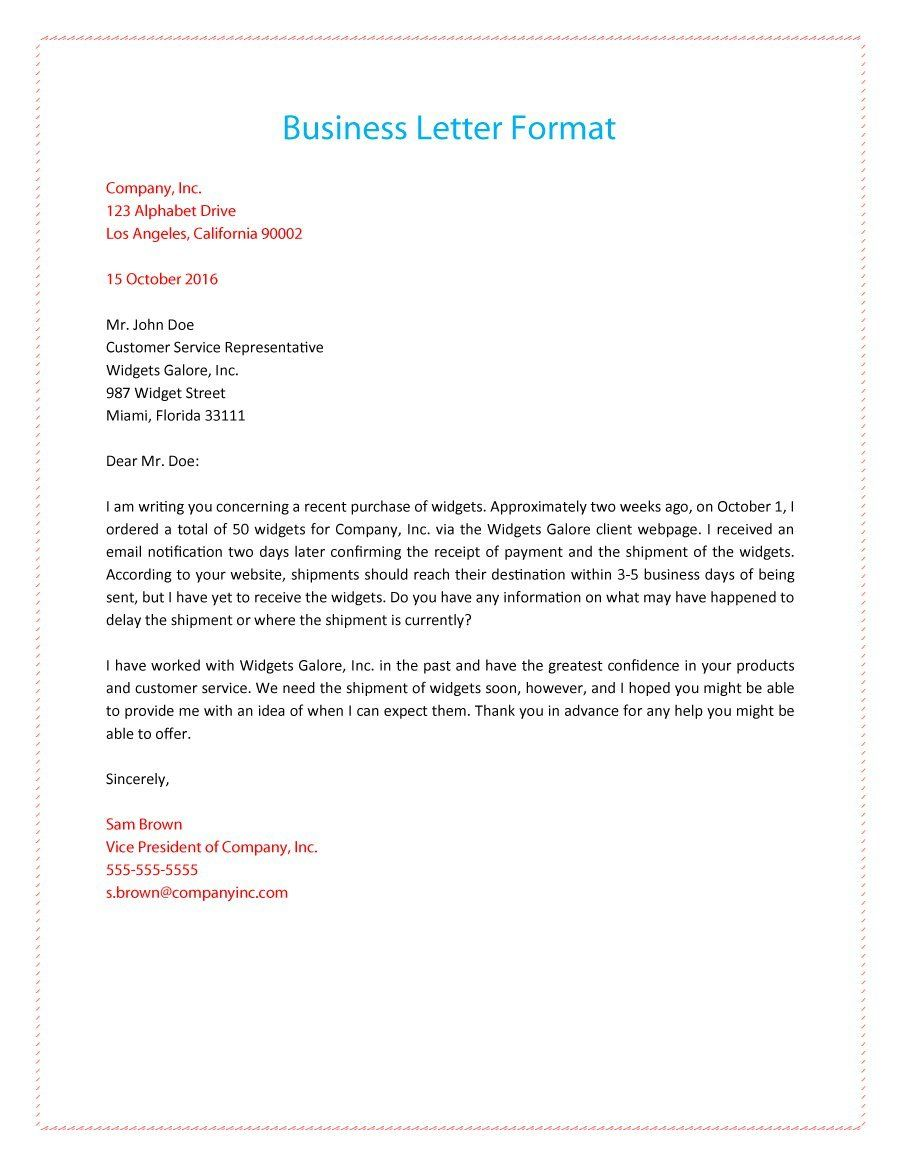 formal business letter format   Yelom.myphonecompany.co