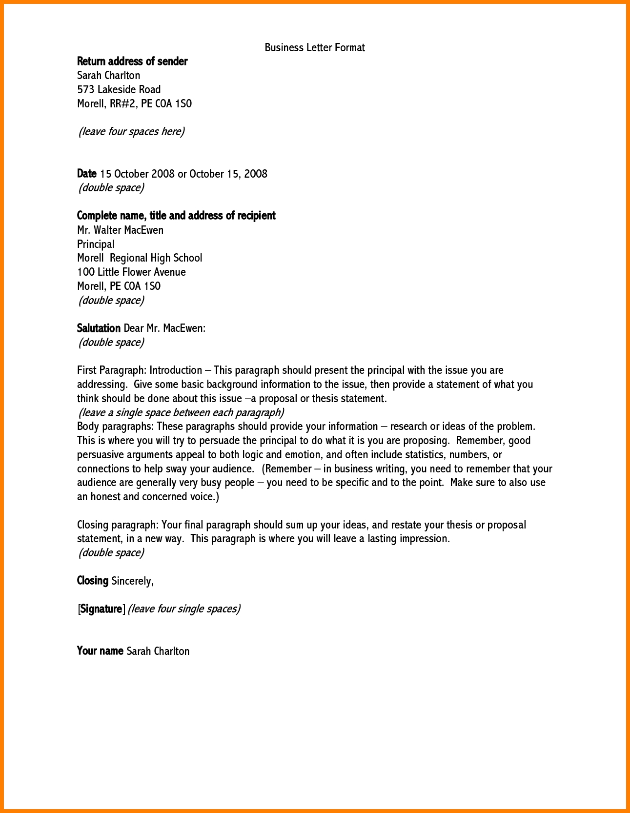 Business Letter Addressing 0 – elrey de bodas