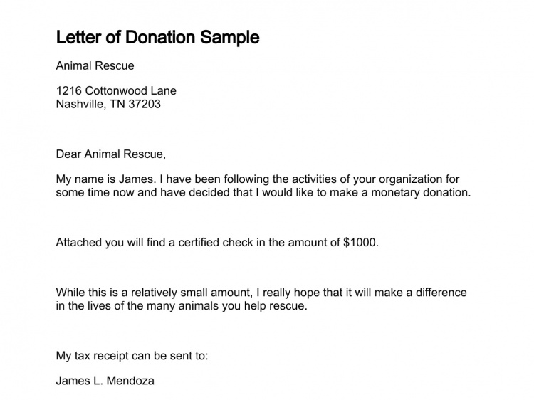 Sample Letter To Donors from appareldream.com