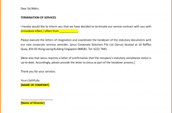 letter of termination of services termination letter sample 6