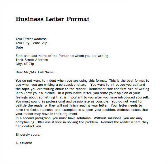 Writing A Professional Letter Format Help With C Homework