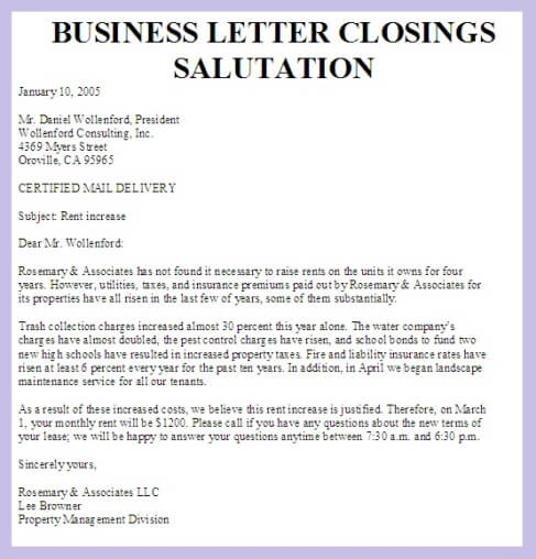 Appropriate Salutations For Business Letters The Letter Sample