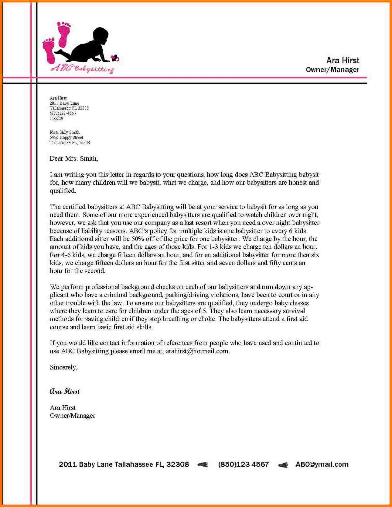 sample of a business letter   Ukran.soochi.co