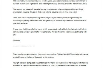 thank you letter to client for giving business great business thank you letter for donation sample