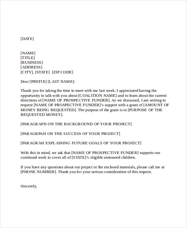 project proposal letter template 9 sample project proposal letter