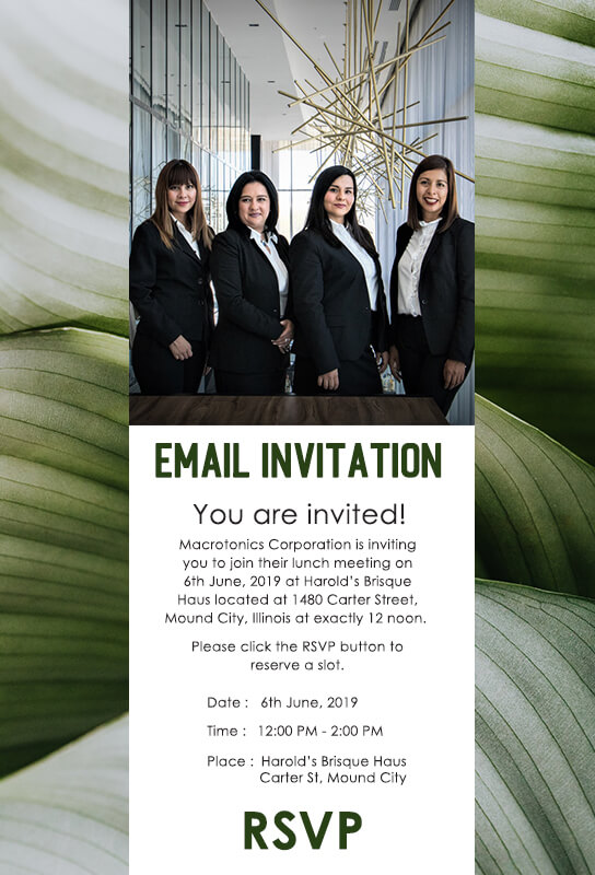 Email Invitation Customizable PSD Design Template