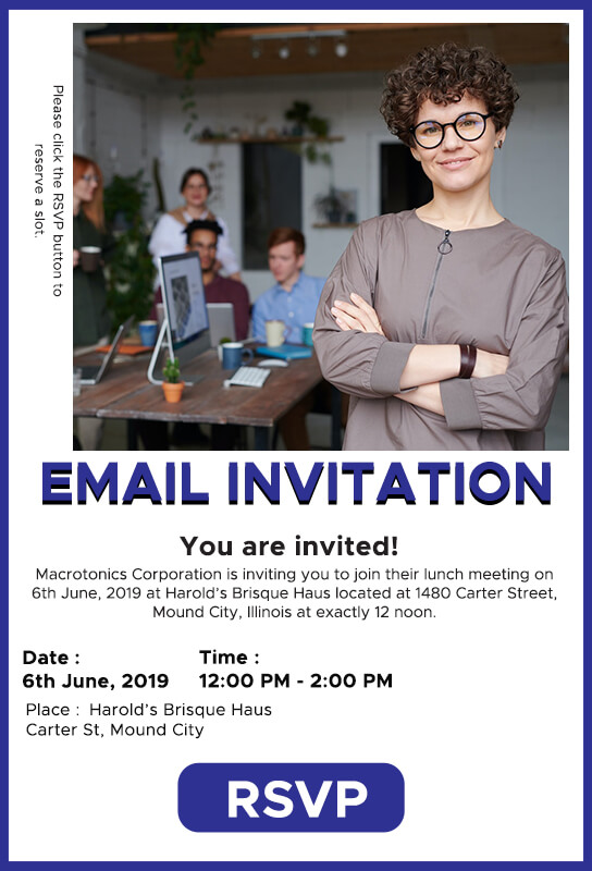 Email Invitation PSD Flyer Template