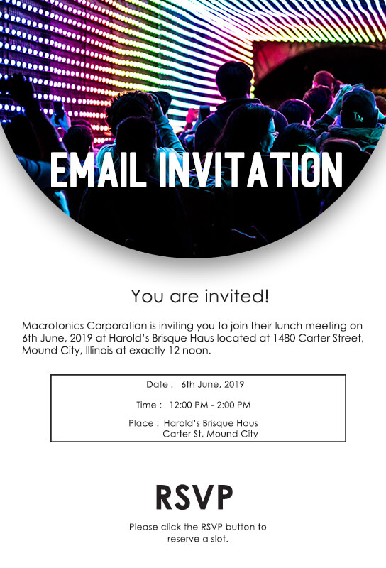 Email Invitation Template Photoshop