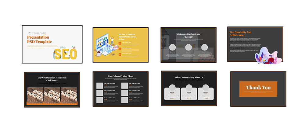 business presentation Free Download PSD