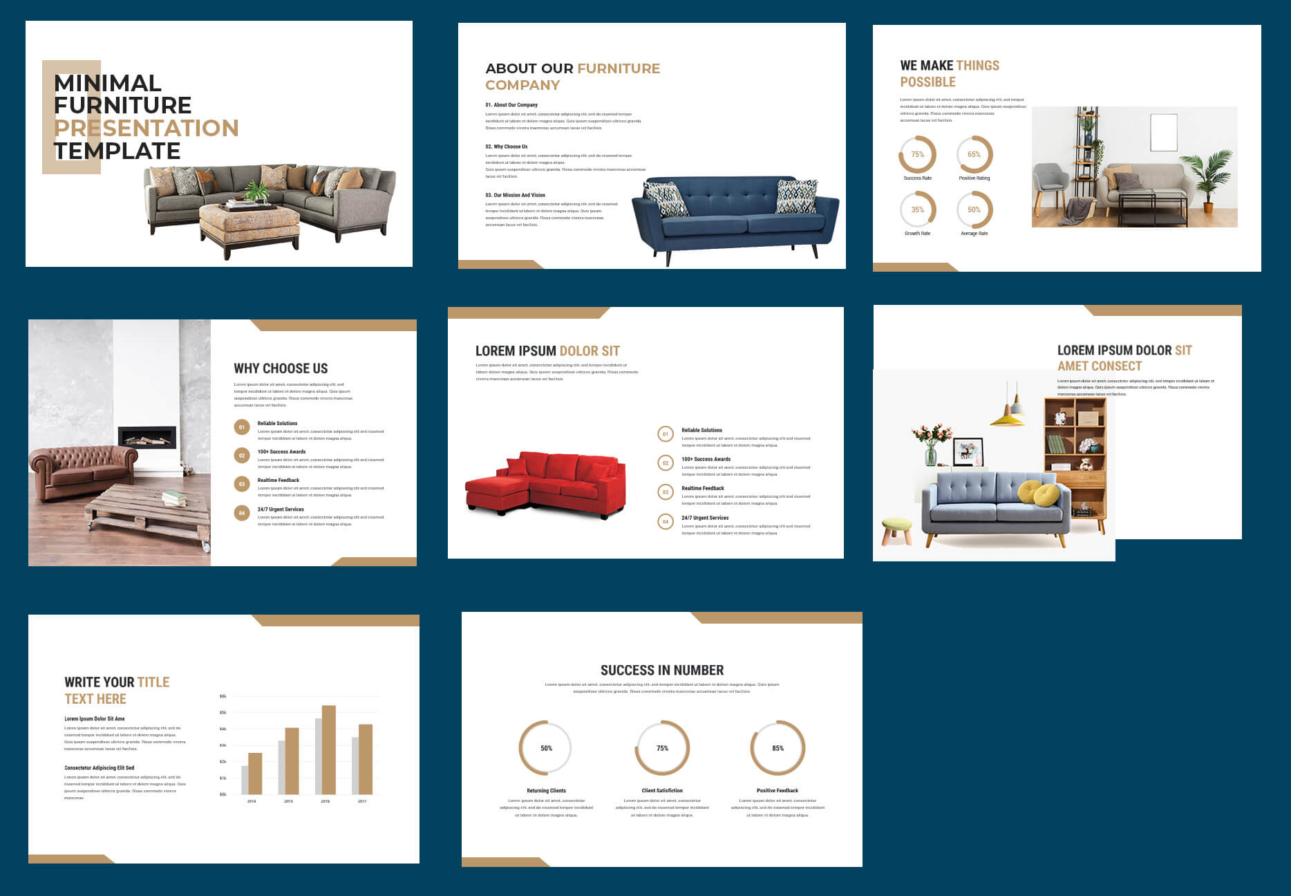 business presentation Free Template in PSD
