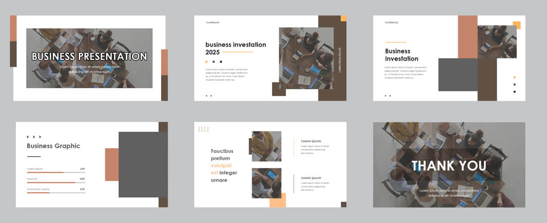 business presentation PSD Template Free