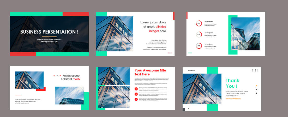 business presentation Template Free PSD