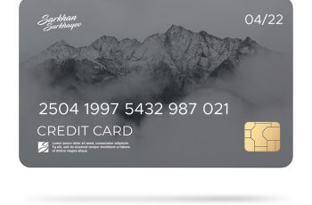 credit card Example PSD Design