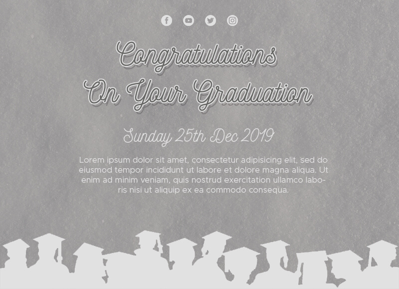 graduation card Customizable PSD Design Template