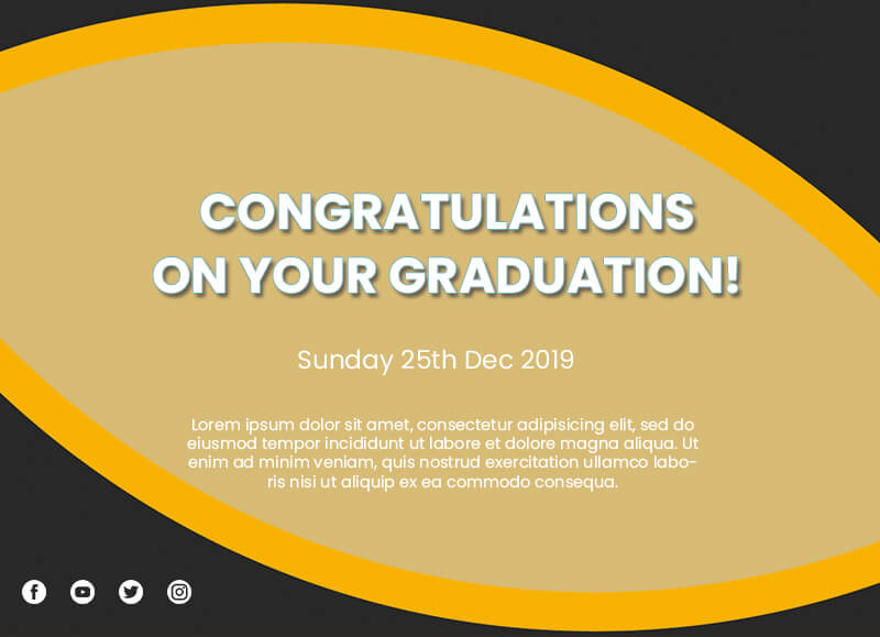 graduation card Example PSD Design