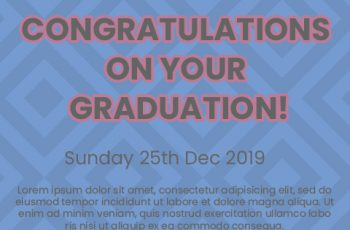 graduation card Free Download PSD