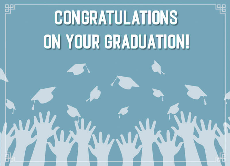 graduation card PSD Template Free