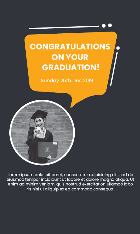 graduation card Template Free PSD