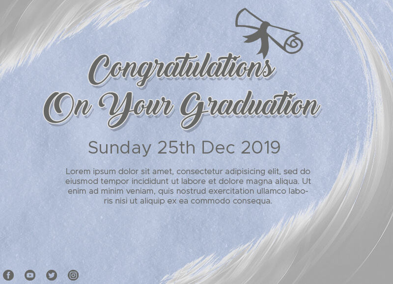 graduation card Template Photoshop