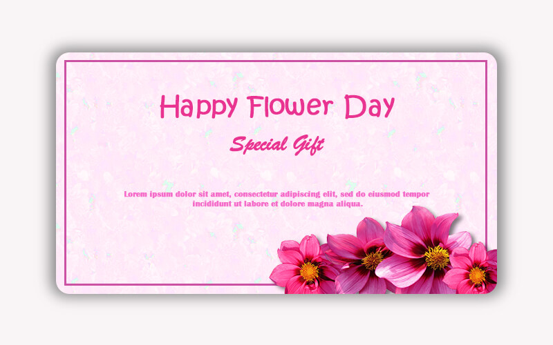Gift Card in psd design